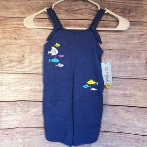 Cat & Jack Blue dream fish romper